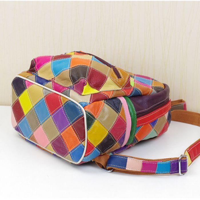 moderner Rucksack Damen weiches Leder