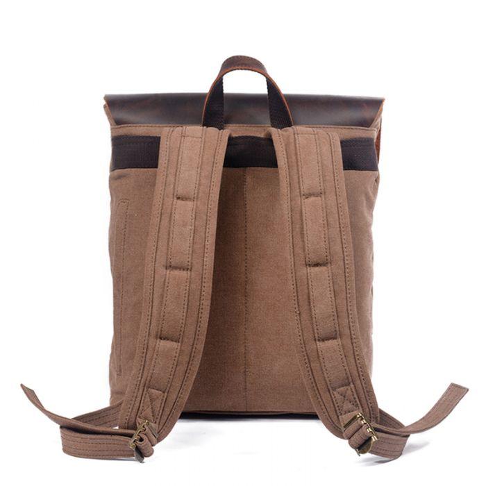 Vintage Rucksack Segeltuch Backpack Herren