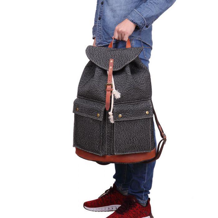 Rucksack Herren aus Segeltuch für Reisen