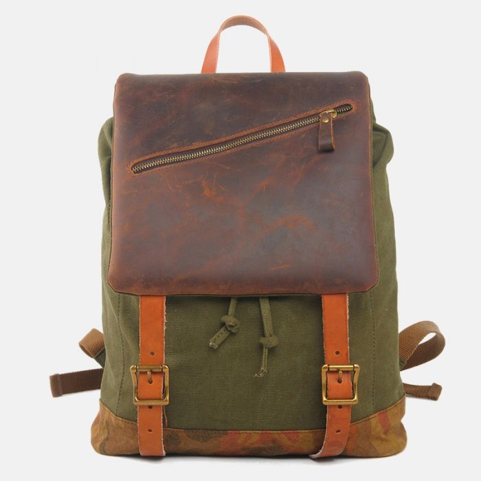 retro backpack canvas