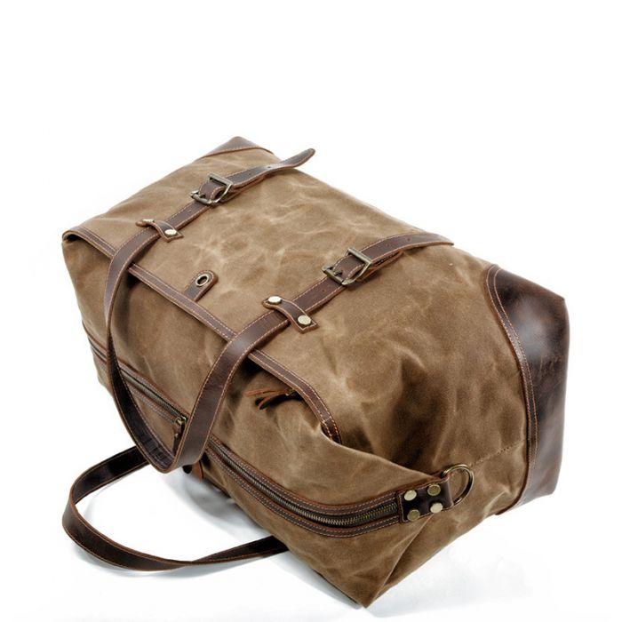 Retro Handtasche Herrentasche aus Segeltuch Umhängetasche
