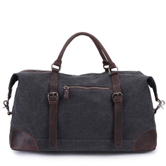 große Reisetasche Herren Canvas Umhängetasche mit Griff für Reisen