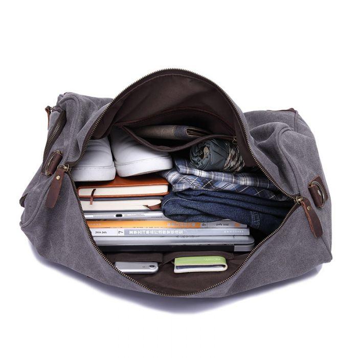 große Reisetasche mit Schuhfach Herren Canvas Umhängetasche für Reisen