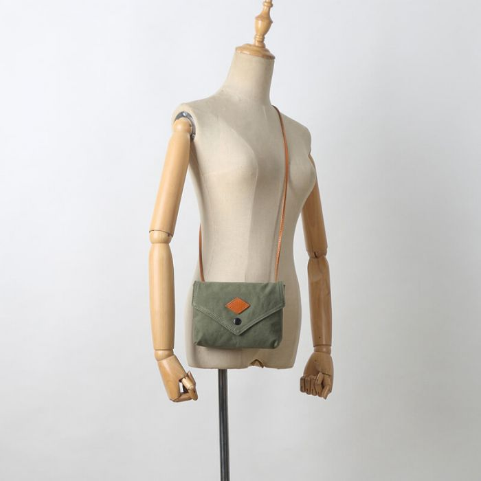 kleine Umhängetasche Damen Canvas Messager Bag