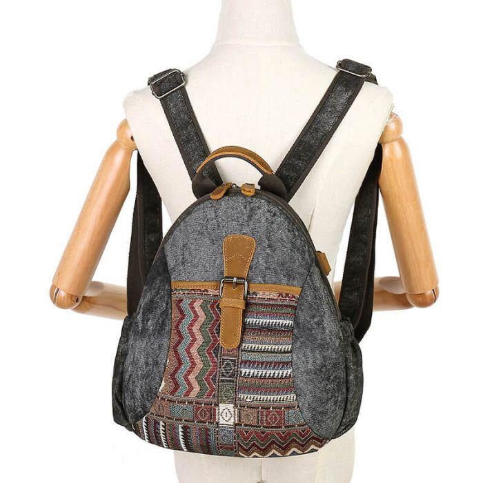 Canvas Rucksack Damen Vintage Backpack