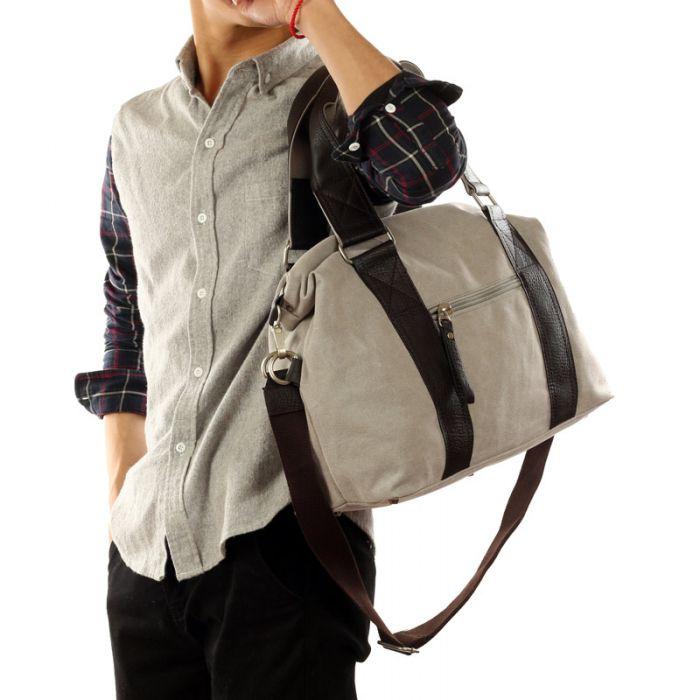 günstige große Reisetasche Herren Canvas Umhängetasche für Reisen