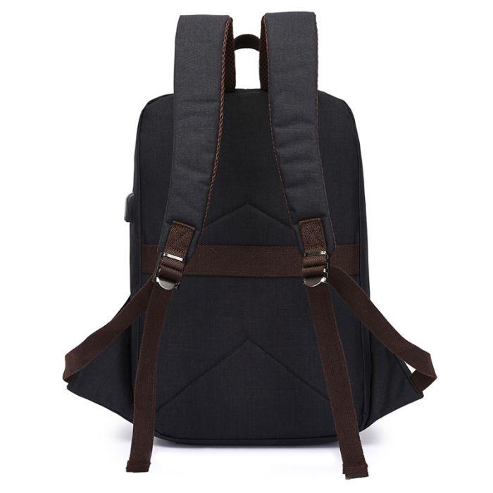 Rucksack Herren aus Segeltuch für Schule mit Laptopfach