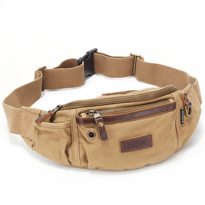 Hüfttasche Outdoor für Herren aus Canvas Brusttasche
