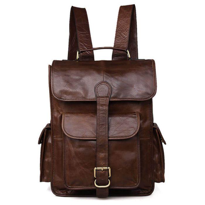 Rucksack Herren Leder Business braun Vintage