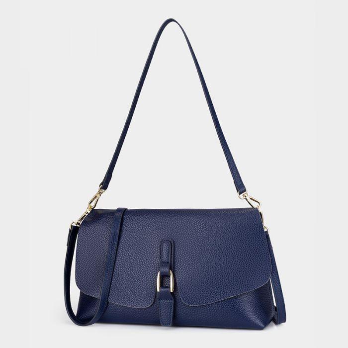 kleine Umhängetasche Damen Leder braun Handtasche