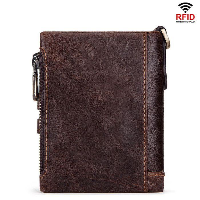 Portmonee Herren Leder Portemonnaie Geldbörse braun