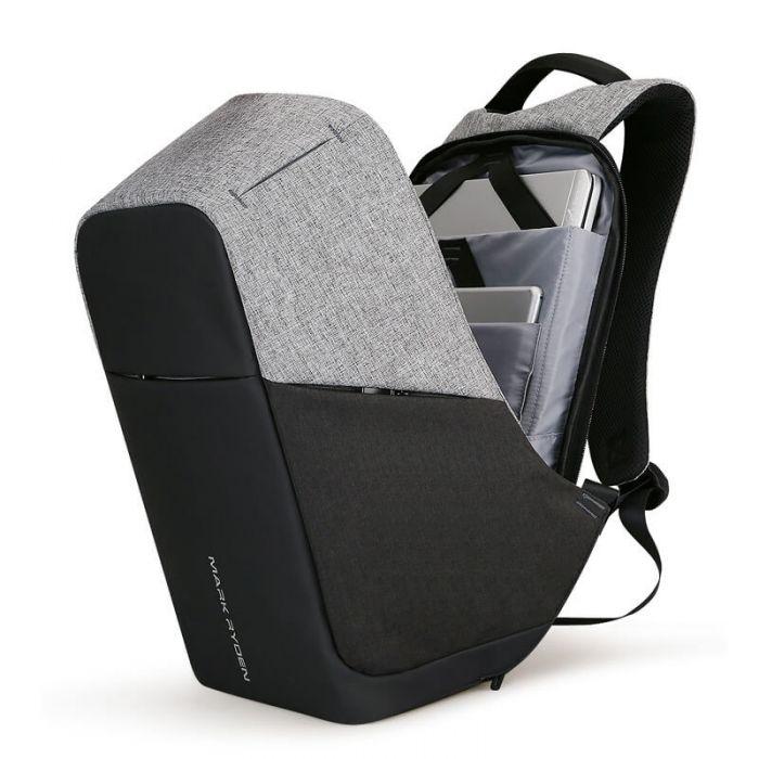 Vintage Rucksack Herren Canvas Leder für Uni