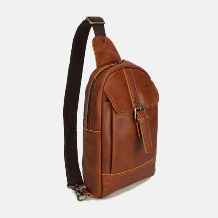 Brusttasche aus Rinderleder für Herren und Damen
