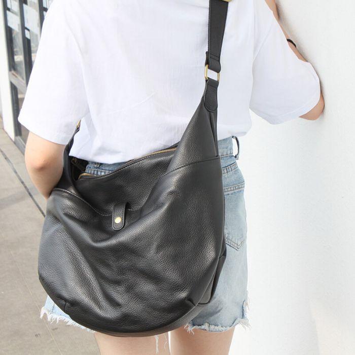 Leder Handtasche Damen Vintage Schultertasche zum Umhängen