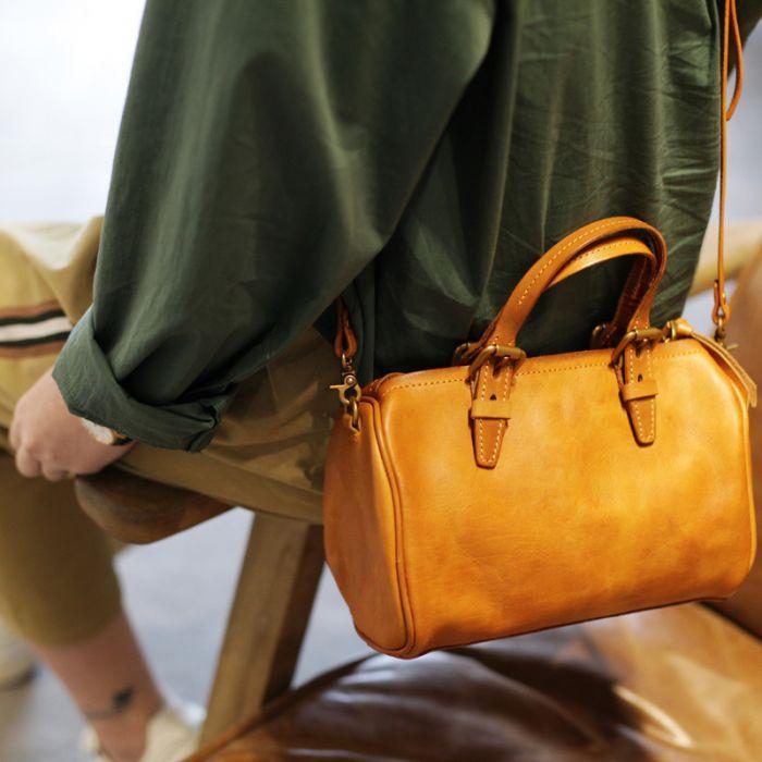 Leder Handtasche Damen braun günstige Umhängetasche für Alltag