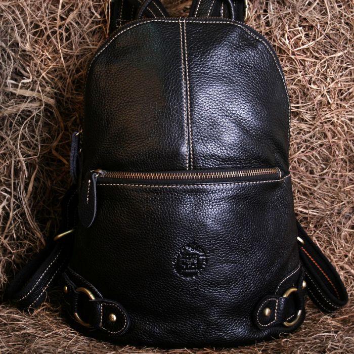 Rucksack Leder Damen braun Damenrucksack schwarz Vintage