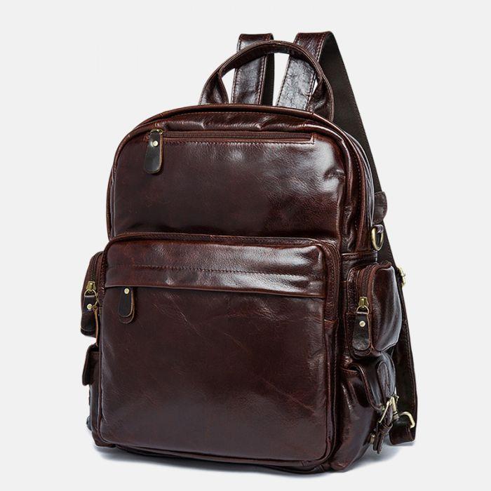 leder rucksack braun vintage
