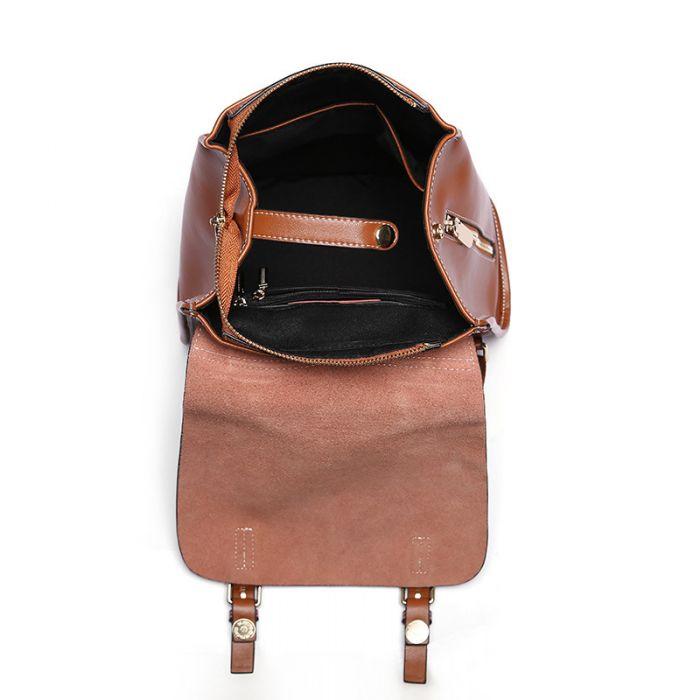 Rucksack Damen aus Leder für Alltag und Reisen