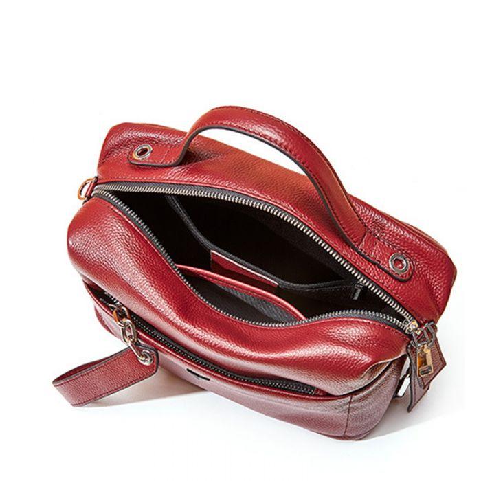 Handtasche zum Umhängen aus Leder Frauen Tasche
