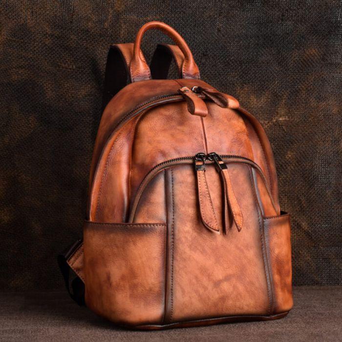 Vintage Rucksack aus Leder für Frauen