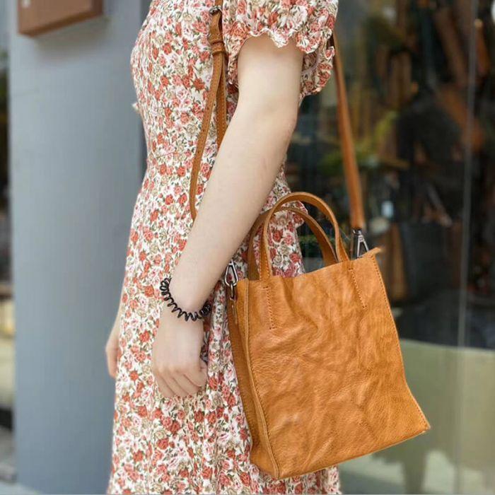 moderne Umhängetasche Tote Bag Damen Leder Handtasche