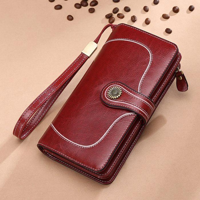 Portemonnaie Damen Vintage Geldbörse aus Leder