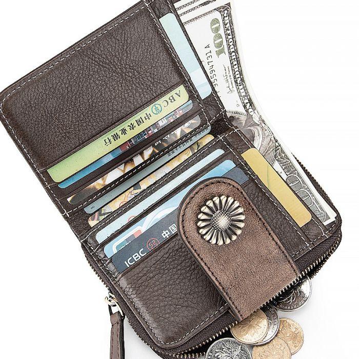 Geldbörse Leder Portemonnaie Geldtasche Frauen