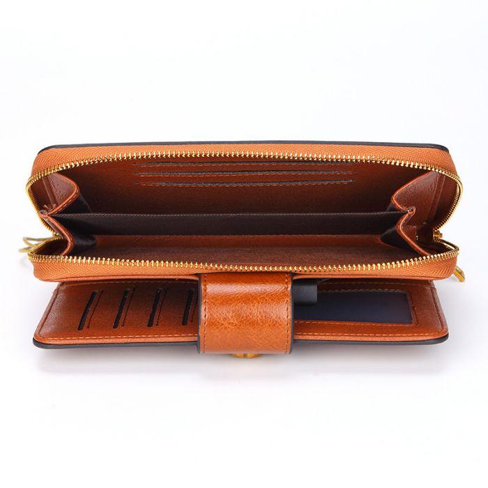 Geldbörse Damen Leder Vintage Portemonnaie