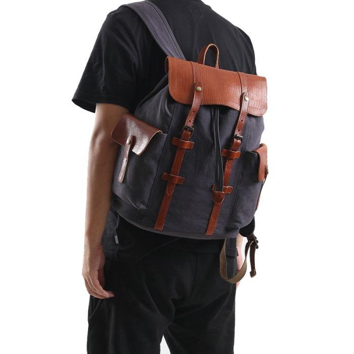 Vintage Segeltuchtasche cooler Rucksack für Herren