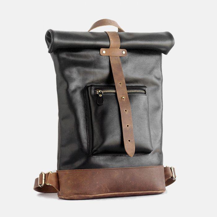 schwarzer rucksack herren