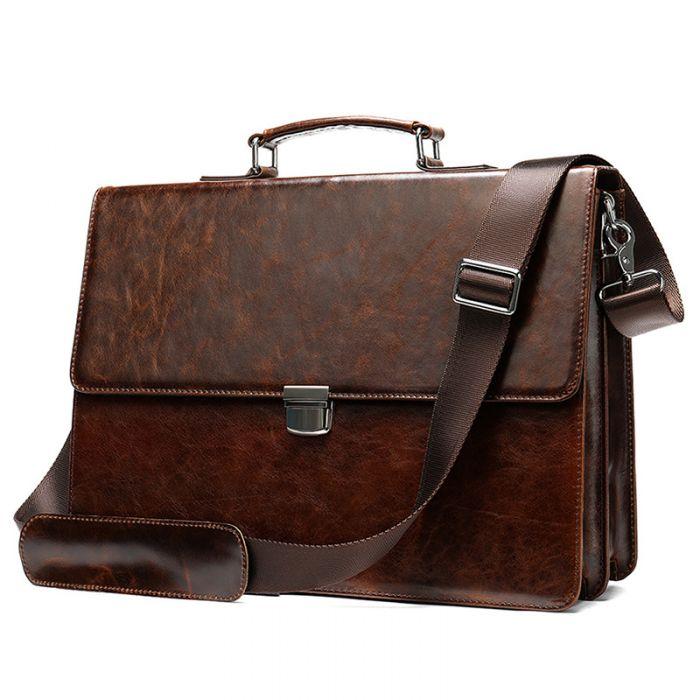 Handtasche Leder Bussinesstasche Herren Vintage Aktentasche
