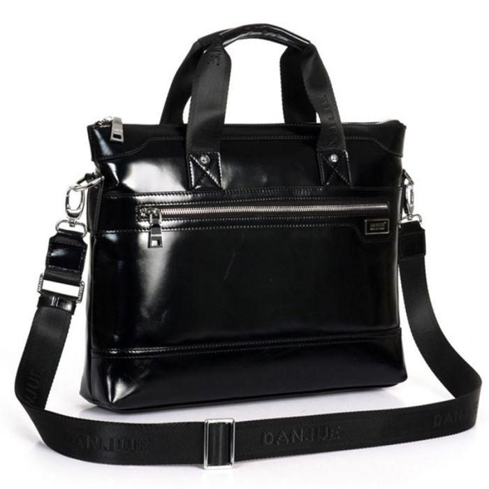 Bussinesstasche Herren Leder schwarz Handtasche Aktentasche