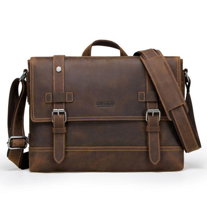Bussinesstasche Herren Leder braun Aktentasche Handtasche