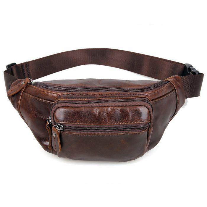 Gürteltasche für Herren aus Leder Hüfttasche Vintage
