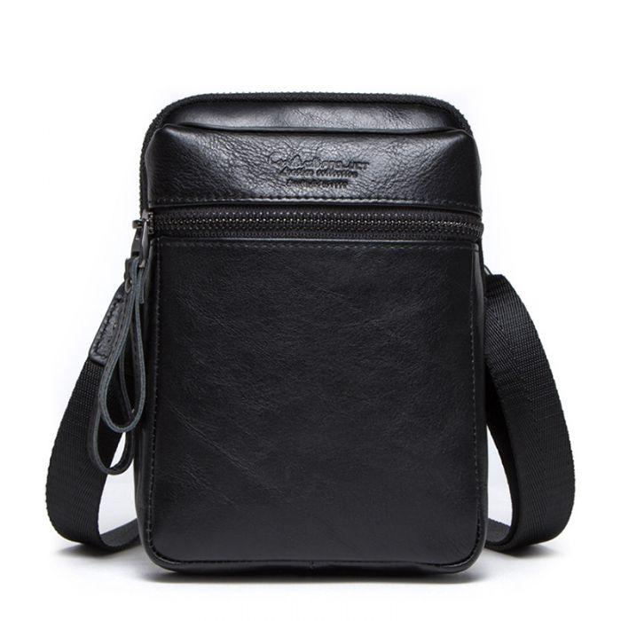 kleine Leder Umhängetasche Herren Vintage braun und schwarz Farbe