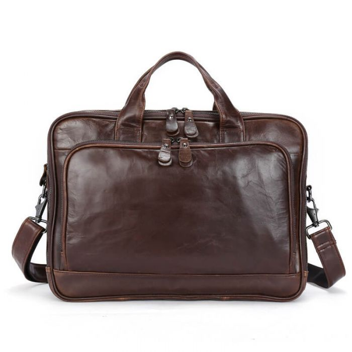 Bussinesstasche Leder braun Aktentasche Herren Vintage