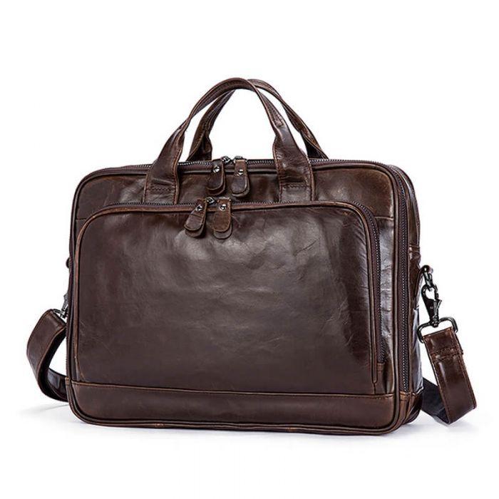 businesstasche herren leder braun