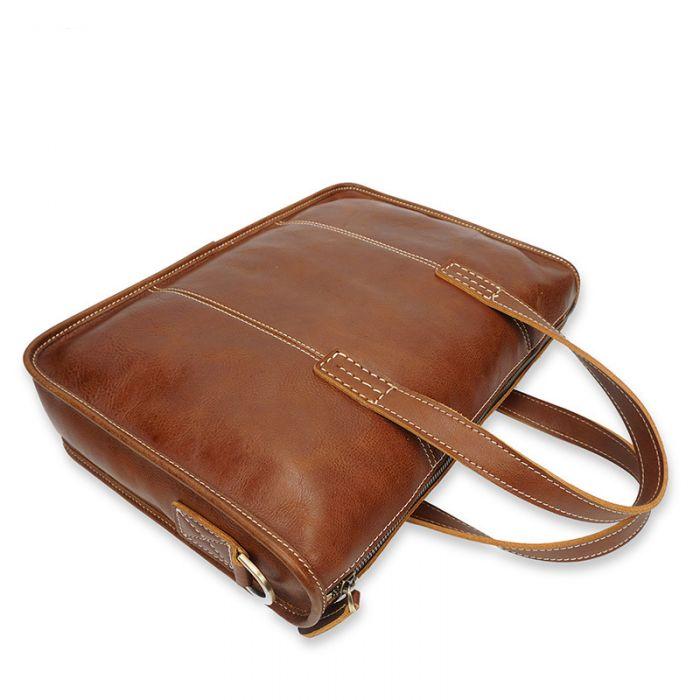 braune Bussinesstasche Herren Leder Aktentasche