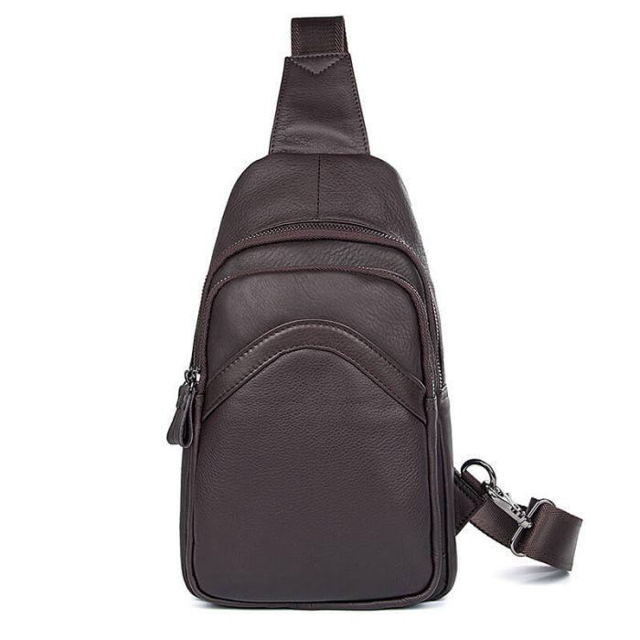 Brustbeutel Herren Leder für Reisen Brusttasche für Männer