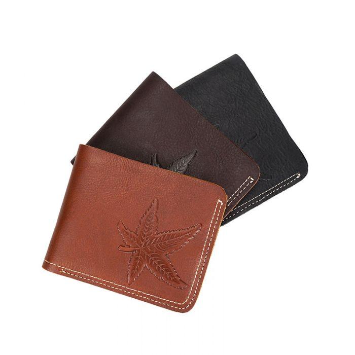 kleine Geldbörse Herren Leder Portemonnaie braun