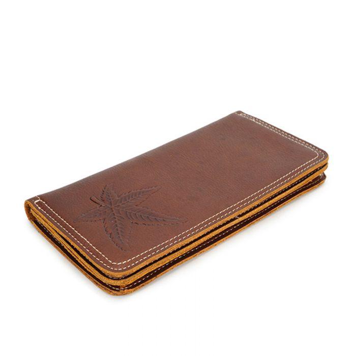 Geldbörse Herren Leder Portemonnaie braun lang