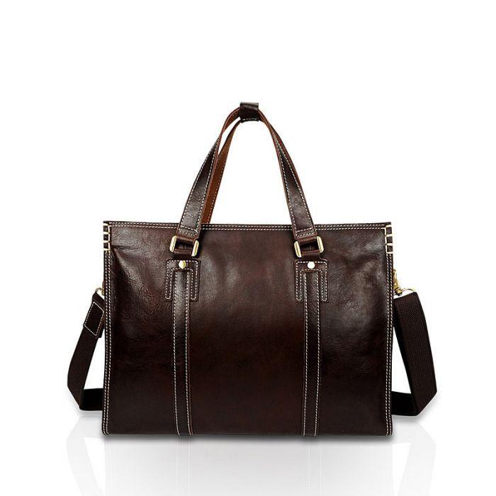 Businesstasche braune Aktentasche Handtasche Herren Leder