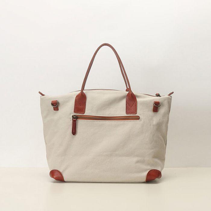 Unisex Schultertasche Hochformat aus Canvas für Damen und Herren Einkaufstasche