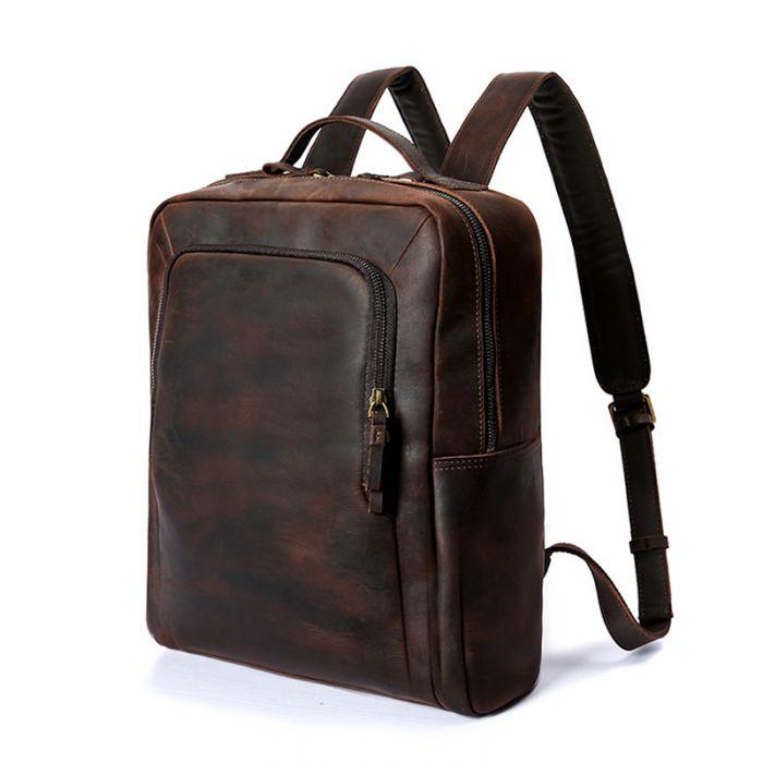 Leder Rucksack Herren Vintage Backpack