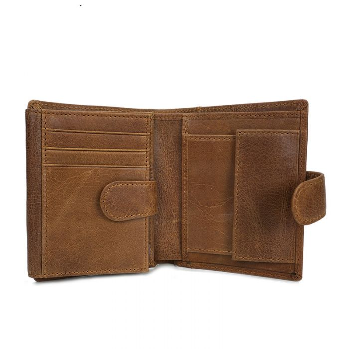 Leder Geldbörse Herren Portmonee Brieftasche Hochformat